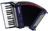 Hohner Bravo II 60 Dark Blue Silent key akordeon