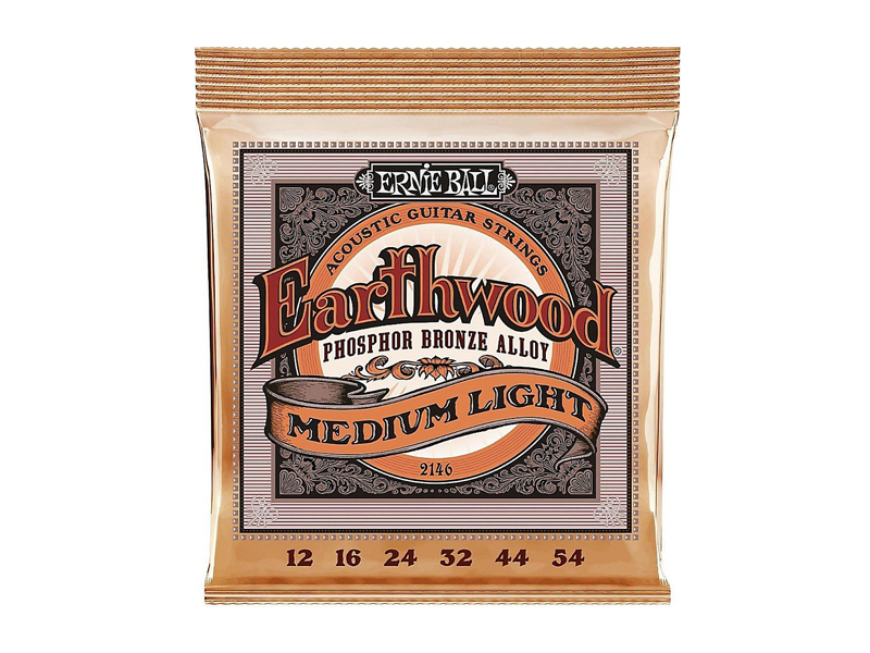 Ernie Ball Earthwood 2146 Medium-Light Phosphor Bronze - Slinky Acoustic .012 - .054 struny pro akustickou kytaru