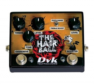 Dvk The Hair Ball Overdrive/Boost kytarový efekt