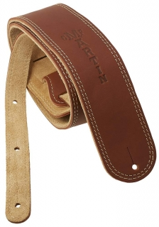 Martin Ball Leather/Suede Strap Brown kytarový řemen