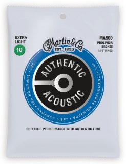 Martin MA500 Authentic SP 92/8 Phosphor Bronze 12-String Extra Light