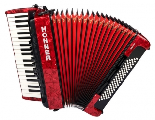 HOHNER Bravo III 80 Red Silent Key akordeon